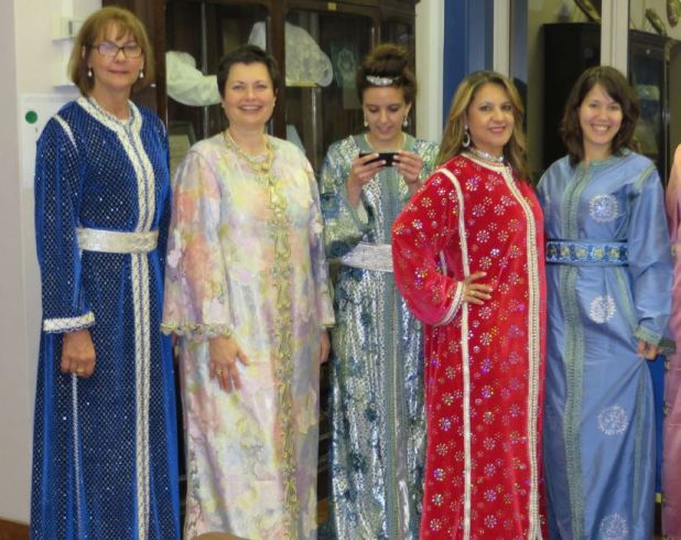 Sydney City Branch members enjoyed modelling authentic kaftans at a Moroccan-themed fundraising luncheon.