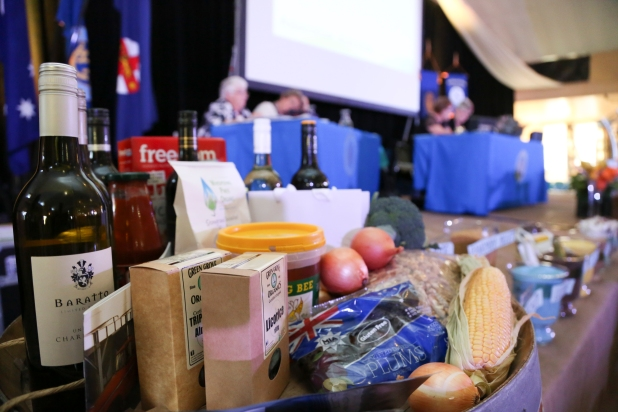 Fabulous local produce on display on stage